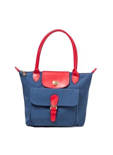 TH Bags TH Bags 2THCW2020034 Fermuarlı İki Bölmeli Kadın Omuz Çantası Renkli